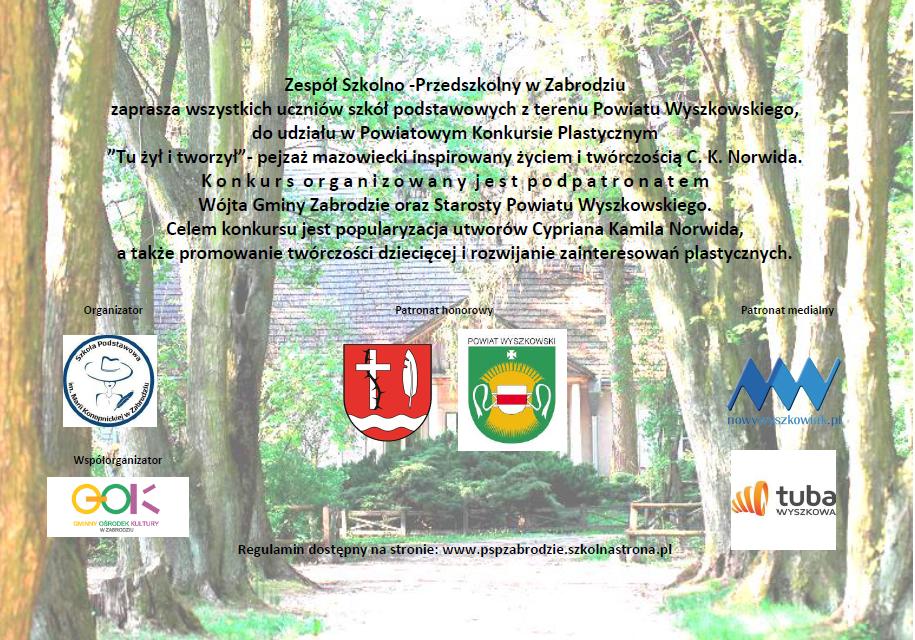 Plakat Konkursu Powiatowego